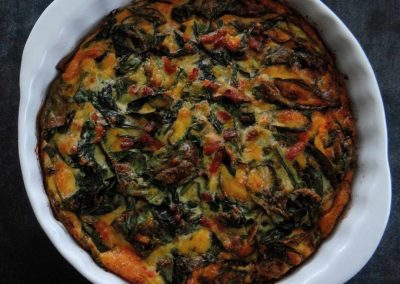 Quiche met spinazie